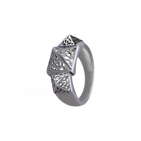 Oxidised Filigree Ring