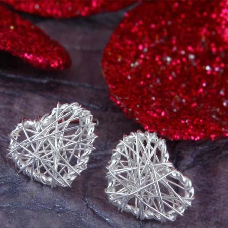 Valentine Heart Studs